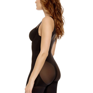 WA802251-BLK-side-Wacoal-Shapewear-Smooth-Complexion-Firm-Black-Torsette-With-Legs