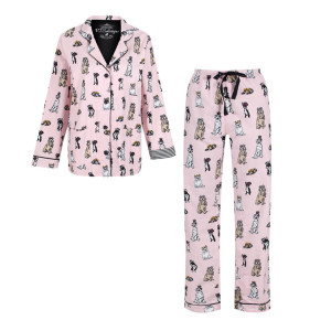 pj_salvage_women_s_royal_dogs_flannel_pyjama_set_-_pink